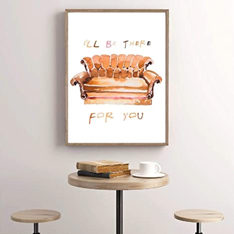 Friends TV Show Canvas Canvas Wall Art Prints, Acuarela ...