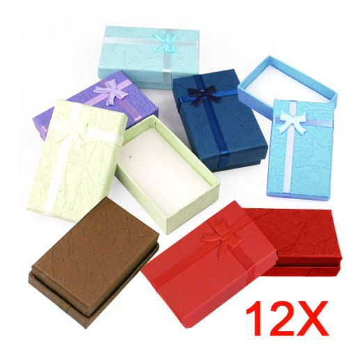 New 12Pcs Jewelry Gift Paper Boxes Ring Earring Necklace Watch Bracelet Box - Vouchers My Amazon