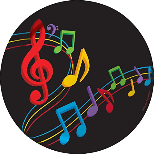 Creative Converting 8 Count Dancing Music Notes Sturdy Style Paper Lunch Plates, 7