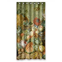Mikmoki The Famous Classic Art Painting Flowers Blossoms Bathroom Curtains Of Polyester Width X Height / 36 X 72 Inches / W * H 90 By 180 Cm Decoration Gift For Birthday Kids Girl Kids Gir
