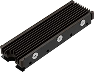 NVMe Heatsinks for M.2 2280mm SSD Double-Sided Cooling Design(Gray)