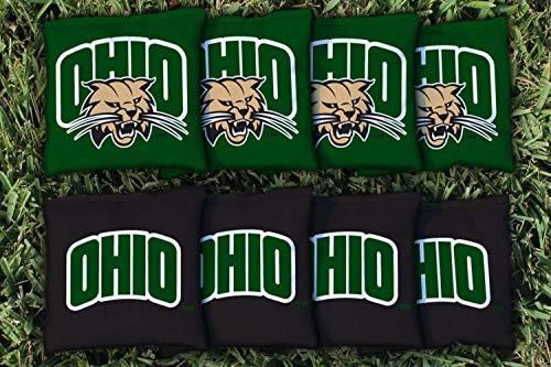 - Victory Tailgate NCAA Collegiate Regulation Cornhole Game Bag Set (8 Bags Included, Corn-Filled) - Ohio University Bobcats