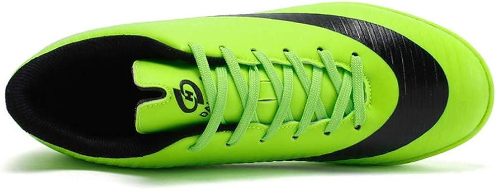 Zapatos De F/útbol Profesionales Hombre Aire Libre New 2019,Juventud Encaje Puntera Protectora Corriendo Atletismo Ligero Zapatos De Deporte Entrenamiento Zapatillas Black Green 32-44
