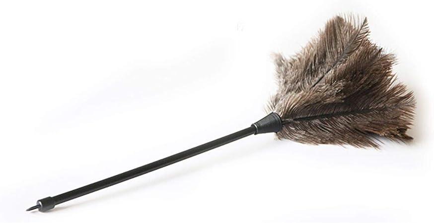 Plumero de plumas de avestruz auténticas calidad premium 34cm- Atrae las partículas de polvo: Amazon.es: Hogar