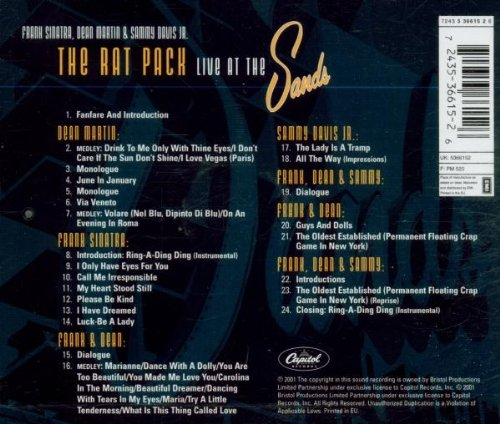 The Rat Pack: Live at the Sands by Capitol