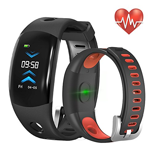 abelanja Fitness Tracker,Activity Tracker Watch with Continuous Heart Rate Monitor, IP68 Waterproof calorie counter watch with bluetooth Pedometer Sleep Monitor Watch with 3D CLR Dynamic for Kids M/F Review
