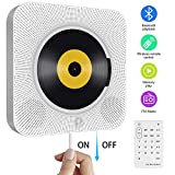 Portable CD Player with Bluetooth, Wall Mountable Built-in HiFi Speakers, Home Audio Boombox