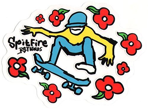(Spitfire x Mark 'The Gonz' x The Boss (Anrew Reynolds) Skateboard Sticker - 14cm wide approx. skate wheels flowers flower power snow surf board bmx guitar)