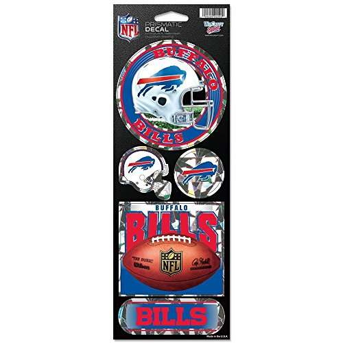 WinCraft NFL Buffalo Bills Prismatic Stickers, Team Color, One -