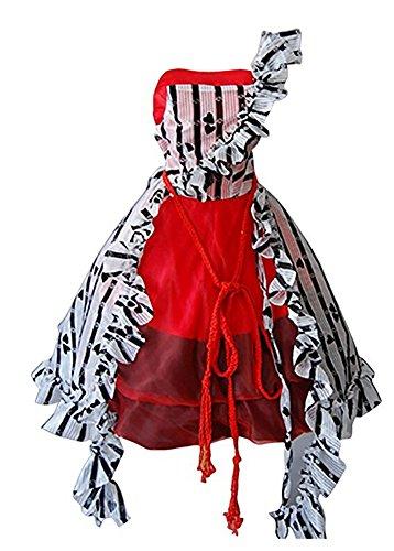 Alice In Wonderland Costume Tim Burton Alice Red Court Um Halloween Dress X-Large