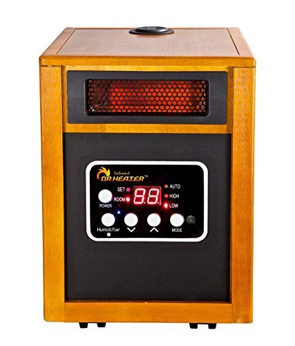 Dr. Infrared Heater Portable Space Heater with Humidifier, 1500-Watt