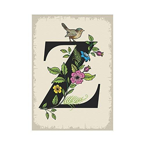 BoloHome Floral Letter Z Garden Flag Outdoor Banner 28 x 40