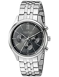 CARAVELLE NEW YORK Men's Quartz Stainless Steel Dress Watch (Model: 43A133)