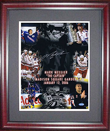 Mark Messier Autographed Framed 11x14 Photo The Captain Ny Rangers Steiner (Mark Messier Autographed Photo)