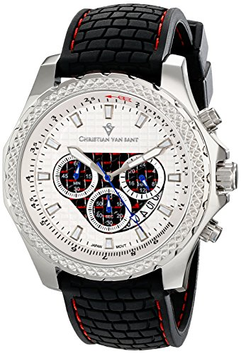 Christian Van Sant Men's CV5120 Sport Retrograde Analog Display Quartz Black Watch