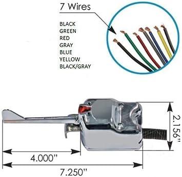 Amazon.com: CPW (tm) Universal 7 Wire CHROME Turn Signal Switch - Signal  Stat 901: AutomotiveAmazon.com