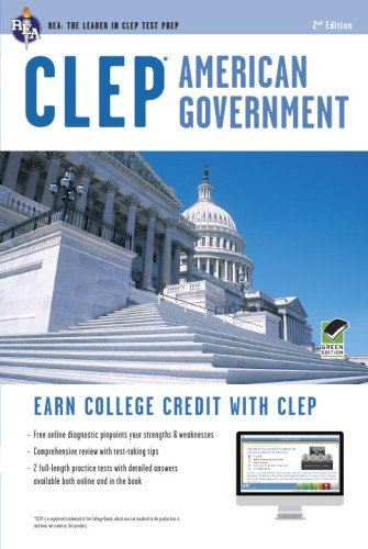 CLEP® American Government Book + Online (CLEP Test Preparation) (Clep History Of The United States compare prices)