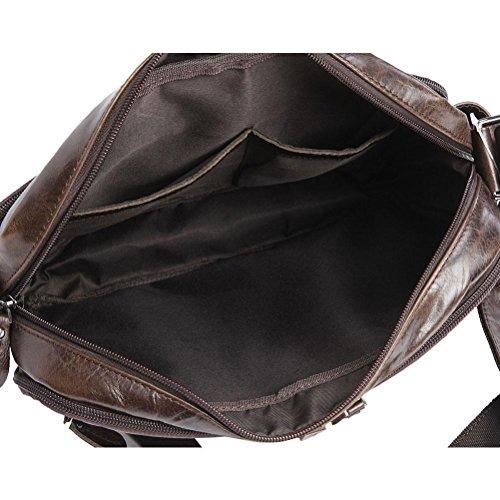 Laptop Retro De Marrón marrón Bolso Genuino Hombre Business Shoulder Male Casual Tote De Bags GTUKO Carteras Cuero Bolso De Crossbody Messenger Cuero Flap 1xRBEYqUw