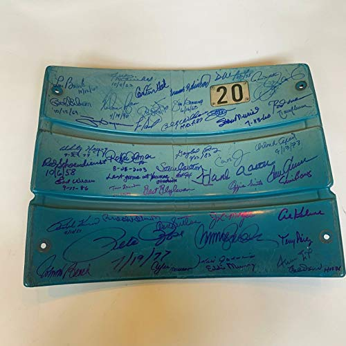 The Finest Hall Of Fame Multi Signed Yankee Stadium Seatback 50 Sigs! Steiner (Best Seats At Yankee Stadium For Baseball)