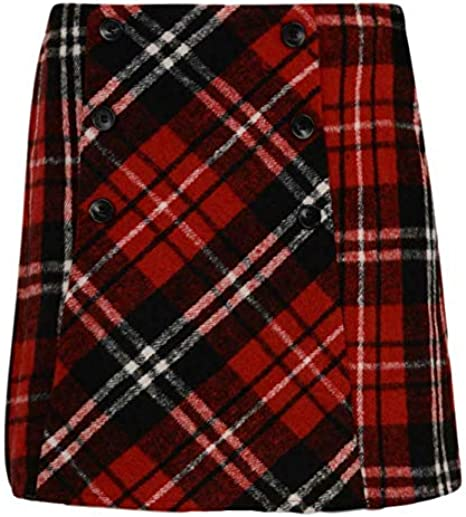Paradise Girls Skirt /& Tights RED Checked Wool Skirt RRP /£12 EX UK Store 2PC Set 3-14Y