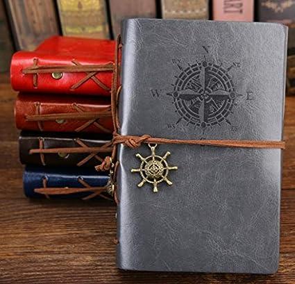 WAJFDAHGA Agenda de cuaderno de diario Vintage Pirate A5 con ...