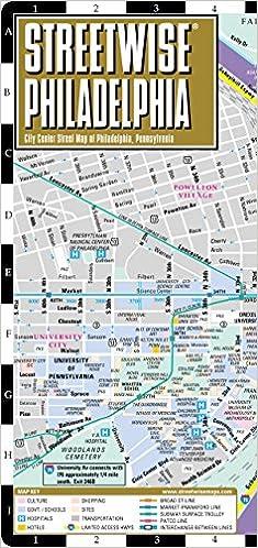 Streetwise Philadelphia: City Center Street Map of Philadelphia, Pa ...