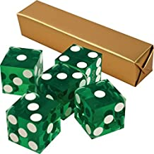 5 Pack Green 19mm Grade A Precision Dice with Matching Serial numbers