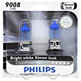 Philips 9008 / H13 CrystalVision Ultra Upgrade Headlight Bulb, 2 Pack