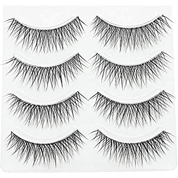Collection Here 5 Pairs Women Ladies Nautral Hair Handmade Thick False Eyelashes Long Black Cosmetic Beauty Tools Beauty & Health