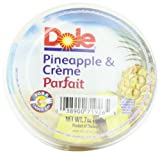 Dole Fruit Parfait, Pineapple & Creme, 7-Ounce Cups (Pack of 12)