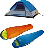 High Peak USA Alpinizmo Summit 20 Sleeping Bag with Magadi 5 Tent Combo Set, One Size, Blue/Orange Review