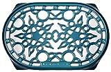 le creuset cast iron trivet - Le Creuset Cast Iron Deluxe Oval Trivet, 10 1/2 x 6 3/4, Marine