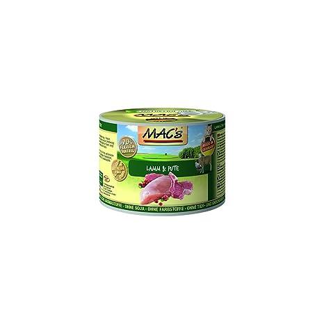 MACS Comida Húmeda para Gatos Cordero y Pava Sin Cereales Lata 400 g