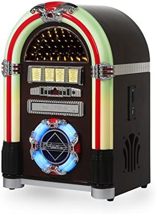 Ricatech RR792, Reproductor de CD Retro tocadiscos, Radio AM / FM ...