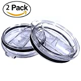 OPACC 2 Packs Clear Crystal Lid With Slider Closure Spill and Splash ...