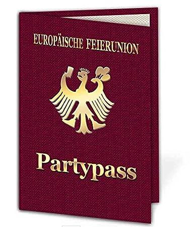 Party Pass Einladungskarten Als Klappkarte Einladung Geburtstag Auf