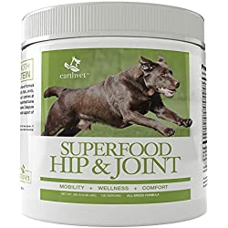 Earth Vet Superfood Hip & Joint Formula for Dogs - Supports healthy hips, joints, ligaments, tendons, and connective tissue functions in canines at any stage of life - Made in the USA (100 Servings)