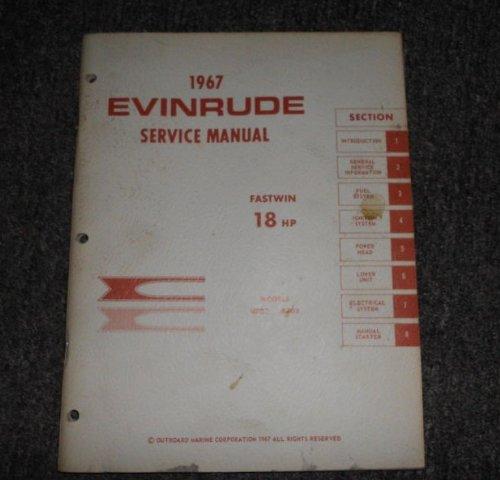 1967 evinrude 18 hp fastwin manual models 18702 18703 evinrude rh amazon com 1962 Evinrude Fastwin evinrude fastwin 18 manual