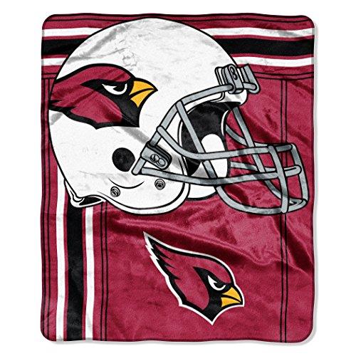 Cardinals Plush - The Northwest Company NFL Arizona Cardinals Touchback Plush Raschel Throw, 50