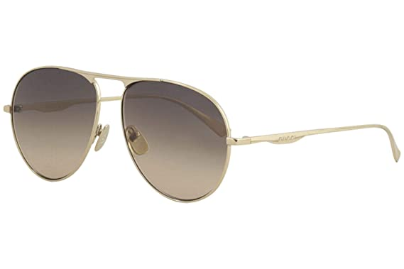 a6eaa3dd464 Amazon.com  Gucci GG0334S 001 Brown Aviator Sunglasses for  Clothing