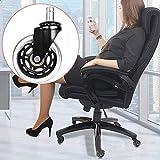 Fevas 5Pcs Office Hard Floors Wheel Insertion-Type Durable Chair Furniture Universal Transparent Wearproof