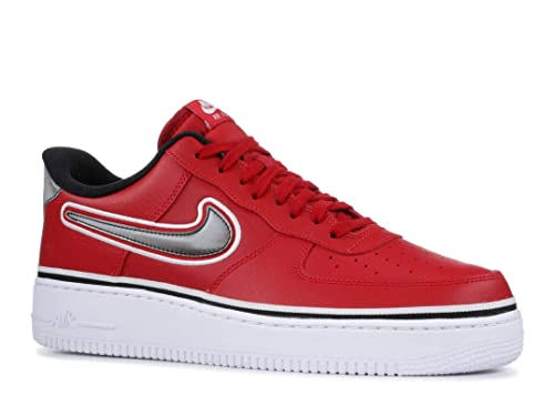 reputable site ddad0 b5241 Nike Men s Air Force 1 07 LV8 Sport, Varsity RED Black-White,
