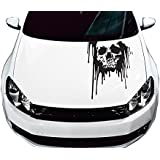 """Universal Bloody Skull Truck or Car Hood Graphics Decal (Sk1418) 23""""x35"""" FGD Brand"""