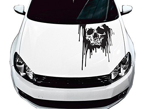 (FGD Universal Bloody Skull Truck or Car Hood Graphics Decal (Sk1418) 23