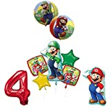 The ULTIMATE Super Mario Brothers and Luigi 4th Birthday Party Supplies Decorations