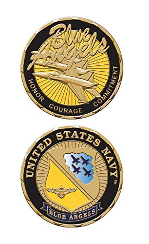U.S. Navy Blue Angels Challenge Coin. Made in USA