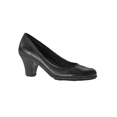 Alexandra Plus sûre de sécurité Stc-fw303bk-5Footsure Femme Plateau cour Chaussure, UNI, 100% cuir Dessus, taille: 5, Noir