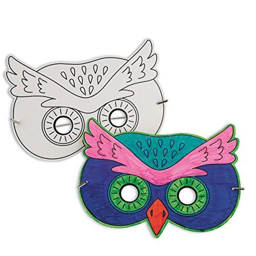 S&S Worldwide Owl Half Mask (pack of 24)