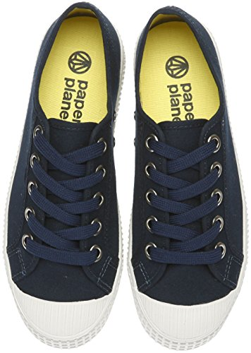 Paperplanes-1350 Casual Low Top Flats Women Canvas Sneakers 1350-Navy LREgt
