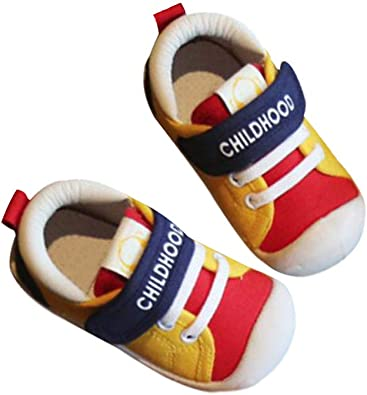 DEBAIJIA Bebé Primeros Pasos Zapatos 1-4 años Niños Zapatos Niños Niñas Suave Suela Antideslizante Algodón Lona ...